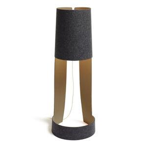Domus Dizajnérska stojaca lampa Mia XL grafit-stone