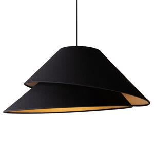DUOLLA Textilná závesná lampa Coco, čierna