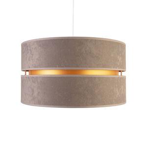 DUOLLA Závesná lampa Duo, sivá/zlatá