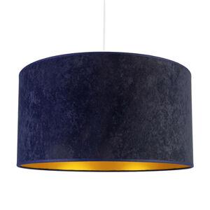 DUOLLA Závesná lampa Roller, námornícka modrá/zlatá