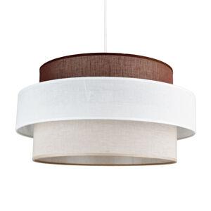 DUOLLA Závesná lampa Space, biela/béžová/hnedá