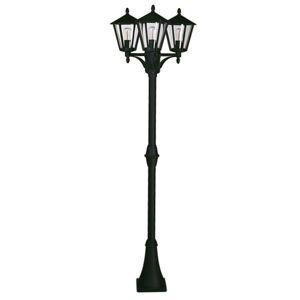 Albert Leuchten Stĺpové svietidlo 680 vidiecky štýl 3-pl., čierne