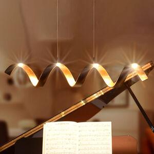 Eco-Light LED závesné svietidlo Helix, čierno–zlatá, 80 cm
