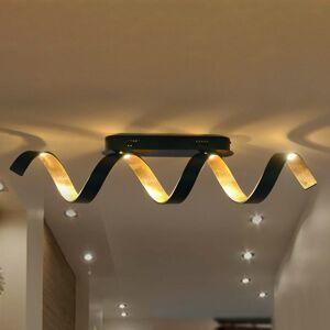 Eco-Light Stropné LED svietidlo Helx v čierno-zlatej