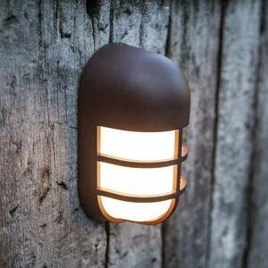Eco-Light LED vonkajšia nástenná lampa Bullo, hrzdzavohnedá