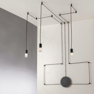 Eco-Light Závesná lampa Spider decentrálna 3-pl., antracit