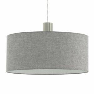 EGLO Textilná závesná lampa Concessa ľan sivá Ø 53 cm