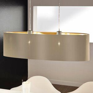 EGLO Závesná lampa Maserlo ovál, taupe-zlatá