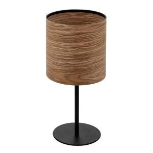 EGLO Stolová lampa Cannafesca s dreveným tienidlom