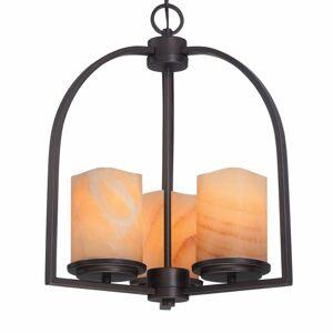 QUOIZEL Závesná lampa Aldora, 3-plameňová