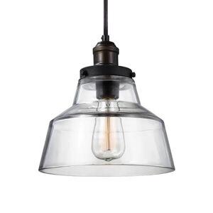 FEISS Starožitná mosadz a zinok závesná lampa Baskin A