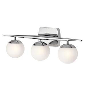 KICHLER Kúpeľňové nástenné LED svetlo Jasper 3-plameňové