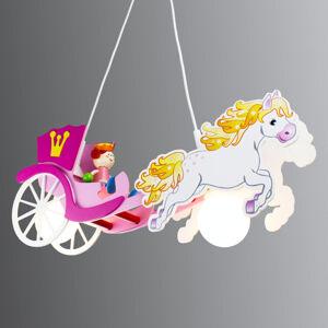 Elobra Závesná lampa Princezná s koňom a kočom