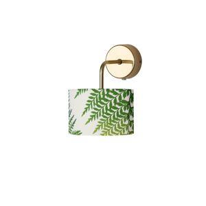 EBB & FLOW EBB & FLOW Fern Leaves green 12cm, držiak zlatý