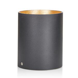 Lucande Lucande Paolo downlight GU10 okrúhle, čierno-zlaté
