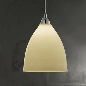 Fabas Luce Sklenená závesná lampa PROVENZA 20 cm jantár