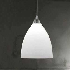 Fabas Luce Sklenená závesná lampa PROVENZA 27 cm biela