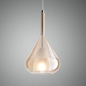Fabas Luce Závesná lampa Lila zo skla 1-plameňová jantár
