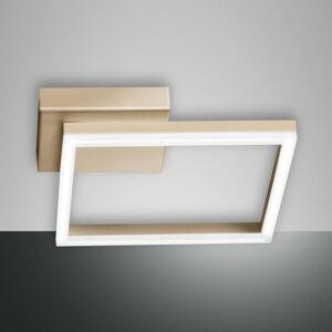Fabas Luce Stropné LED svetlo Bard 45 x 45cm, matné zlato