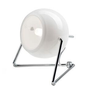 Fabbian Fabbian Beluga White sklenená stolná lampa Ø 9cm