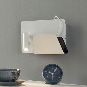 FARO BARCELONA Nástenné LED svietidlo Suau nabíjacia USB prípojka
