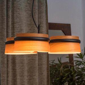 FARO BARCELONA Stmievateľné LED svietidlo Loop vzhľad dreva