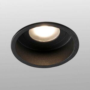 FARO BARCELONA Zapustené svetlo Hyde 1-pl rám okrúhle IP44 čierne