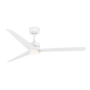 FARO BARCELONA Stropný ventilátor Nu s osvetlením LED, biely