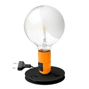 FLOS FLOS Lampadina stolná LED oranžová, stojan čierny