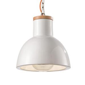 Ferro Luce Závesná lampa C1781 v škandinávskom štýle biela