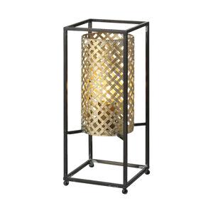 Freelight Stolná lampa Petrolio, čierna/zlatá, výška 37cm