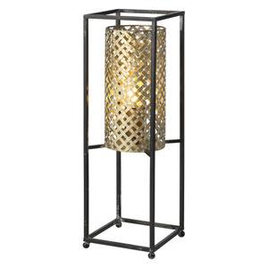 Freelight Stolná lampa Petrolio, čierna/zlatá, výška 47cm