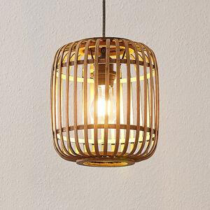Lindby Lindby Marly závesná lampa ratan 1-plameňová