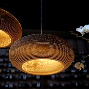 Graypants Závesná lampa Disc hnedá Ø 61cm