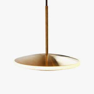 Graypants Závesné LED svietidlo Chrona Dish10h mosadz
