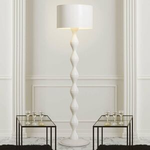 Gibas Biela dizajnová stojaca lampa Sara