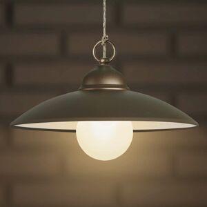 Gibas Jednoduchá závesná lampa Baja kávovo-hnedá