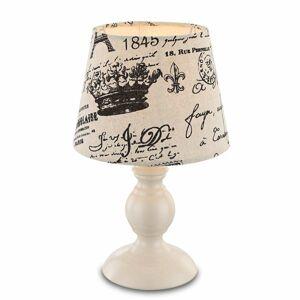 Globo S čiernym nápisom – stolná lampa Jolanda