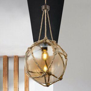 Globo Sklenená lampa Tiko so sieťou hrdzavá Ø 30 cm