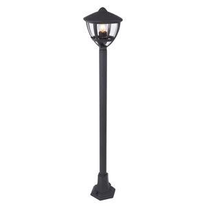 Globo Chodníkové svietidlo Nollo, v tvare lampáša/čierna