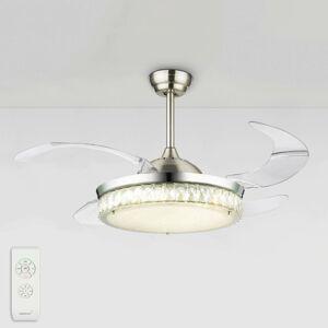 Globo LED ventilátor Cabrera, rôzne farby svetla