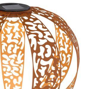 Globo Solárne deko svetlo 33647R Dekór Fľaky, hrdzavá