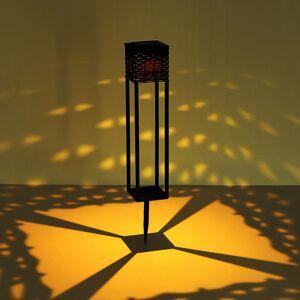 Globo Solárne LED svetlo 36850B ratan hnedá hrot do zeme