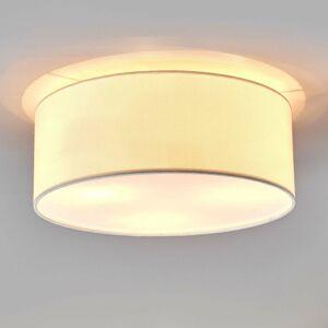 Lindby Biele látkové stropné svietidlo Henrika