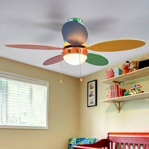 Lindby Pestrý stropný ventilátor Corinna so svetlom