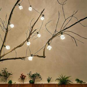 Lampenwelt.com Vonkajšia svetelná LED reťaz Kelja teplá biela 10