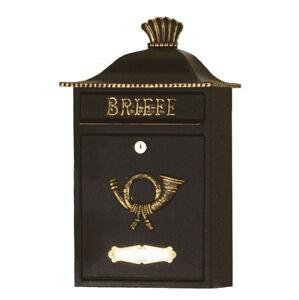 Heibi Poštová schránka MARENO čierna zlatý dekór