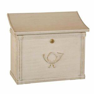 Heibi Poštová schránka MERITO biela/zlatá patinovaná