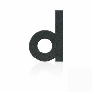 Heibi Čísla domu z ušľachtilej ocele písmeno d, sivé