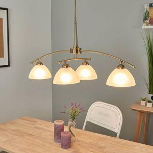 FISCHER & HONSEL Závesná lampa PIHLA v starožitnej mosadzi